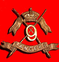 Regimental Badge of the 9th Lancers