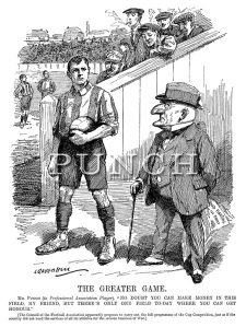Mr Punch and the footballer