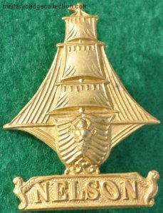 Cap badge of the Nelson Battalion RND