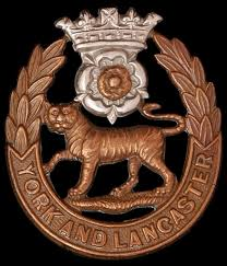 Cap badge of the York and Lancaster Regiment
