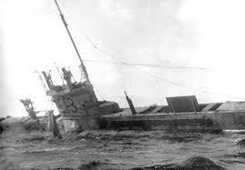 Submarine E13 aground