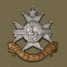 Cap badge of the Sherwood Foresters
