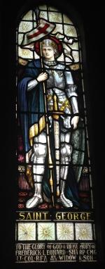 Stain glass dedicated to Frederick Leonard Sharp