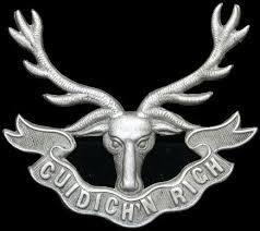 Cap badge of the Seaforth Highlanders