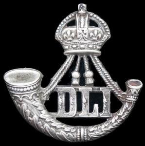 Cap badge of the Durham Light  Infantry